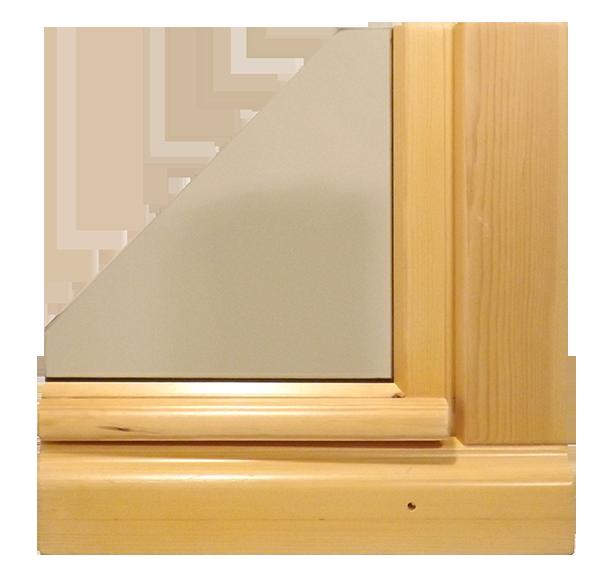Fenêtre bois Hymalaya 68mm ~ Parclose Bois Exotique